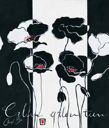 Вышивка триптих черно белые